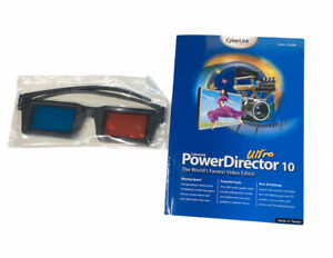 CyberLink PowerDirector 10 Ultra Old Version 3D GLASSES & BOOK ONLY READ