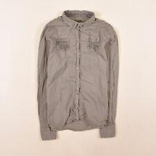 Napapijri Damen Bluse Hemd Top Shirt Blouse Gr.M (DE 38) Damenmode Grau 86309