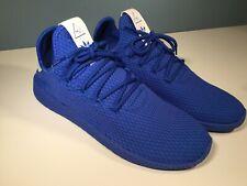 hot sale online 5c8cf 2bdf4 Adidas Pharrell Williams Tennis Hu Shoes Men s Blue CP9766 Size 8.5