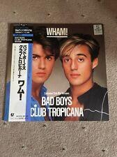 """❣RARE❣️JAPAN 12""""•Bad Boys/Club Tropicana~Wham! (George Michael) NM"""