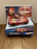 Hot Wheels Marvel Civil War Captain America Iron Man Vehicle with Repulsor | NEW
