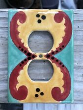 Ceramic switch plates outlet cover Southwest colors like Talavera?