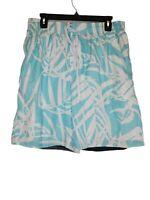 Speedo Swim Trunks Size Medium Blue White Mesh Lined Board Shorts 3 POCKETS EUC