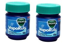 2 X Vicks VapoRub Ointment 50gm (Relieves 6 Symptoms of Cold) Free Shipping