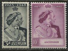 Ascension 1948 KGVI Silver Wedding set mint o.g.