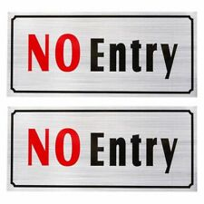 2-Pack of No Entry Signs - No Trespass Signs, Private Property Signs