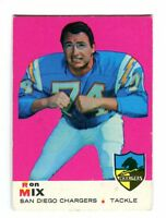 1969 Topps #99 Ron Mix Chargers Nice Card jh16