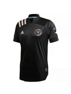 Adidas Inter Miami CF Authentic Black Away Soccer Jersey EH8635, Mens Sz L NWT