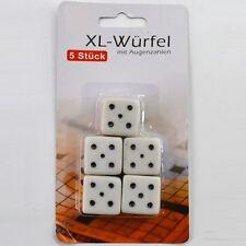 5 Stück XL-Würfel mit Augenzahlen für extra großen Spielspaß! Große Würfel Set