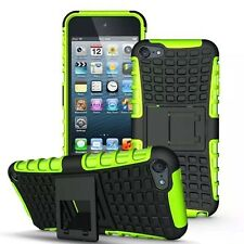 Green HYBRID HEAVY DUTY KICKSTAND RUBBER HARD CASE Cover FOR iPod Touch 7 GEN 6