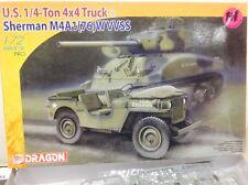 MODEL KIT DRAGON 1/72 SCALE ARMOR PRO SHERMAN TANKS WW2    7412