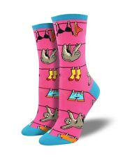 Pink Sloth Socks Socksmith Ladies Girls Sloths Christmas Gift Secret Santa New