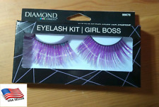 Eyelash Kit Glue on Diamond Cosmetics Girl Boss: Purple Eyelashes and Adhesive