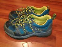 LL Bean 300510 Boys Athletic Trail Running Hiking Boots Shoes Blue Grey Size 5