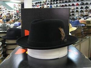 DOBBS AVENUE BLACK (SUEDE FINISH) FUR FELT FEDORA DRESS HAT