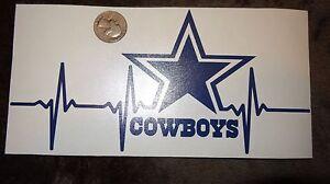 Dallas Cowboys Dark Blue Life car decal