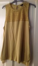 H & M ladies top olive green size small