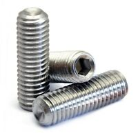 M4 Stainless Steel Set Screws with Cup Point, Socket (Allen key) Drive, DIN 916