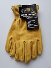 Wells Lamont Premium Cowhide Leather Work Gloves size Medium