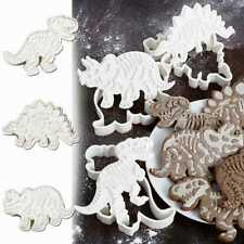 3x Dinosaur Shape Biscuit Cookie Cutter Pastry Fondant Cake Decoration Mould  A+