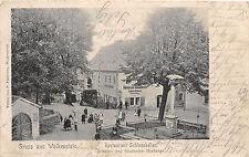Wolkenstein Restaurant Schlosskeller Schüler Studenten Herberge Bahnpost 1906