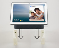 Wall Mount Wall Bracket For Google Nest Hub Max 10 inch Touchscreen In White