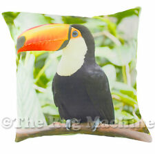 TROPICAL TOUCAN PHOTO PRINT SUEDE FEEL ANNABEL TRENDS CUSHION 45x45cm **NEW**