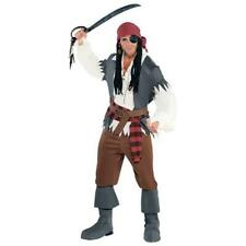 Captain Castaway Costume Pirate Buccaneer Hallowen Mens Adult Standard