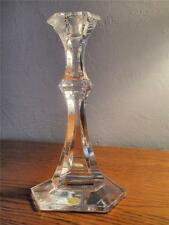 VAL ST. LAMBERT CRYSTAL SINGLE CANDLE HOLDER CANDLESTICK SIGNED  - ORIGINAL TAG