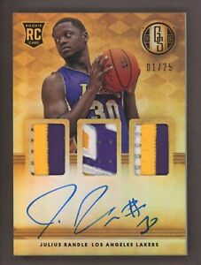 2014-15 Panini Gold Standard Julius Randle RPA RC Rookie Triple Patch AUTO 1/25