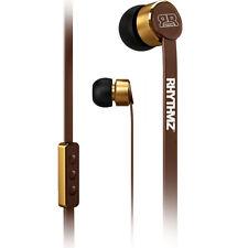 RHYTHMZ ® Earphones for Apple with microphone Headphones Volume Control (Brown)