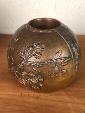 1930s Japanese Old Copper Colored Candle Holder Deco Period Antique