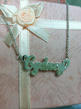 NAME DOUBLE PLATE SILVER PERSONALIZED CHOOSE ANY NAME NECKLACE(MADE IN USA)****