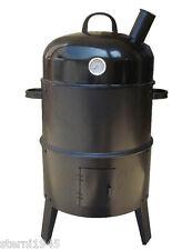 Grill- und Räucherofen ca. 40 x 75 cm mit Thermostat Grillofen Grillen Ofen 3in1