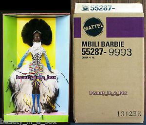 "MBILI Treasures of Africa Byron Lars in SHIPPER Barbie Doll African American AA"""