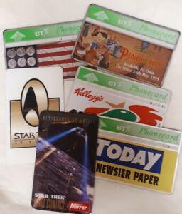 Job Lot of 4 Vintage British Telecom Phonecards and 2 Star Trek Phone Cards (6)
