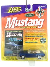 Johnny Lightning Illustrated 1965 65 Ford Mustang Convertible Blue Car 1/64