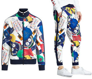 Polo Ralph Lauren Nautical Racing Jogger Pants Jacket Track Suit New