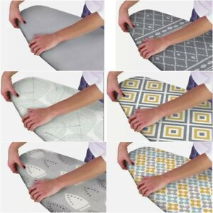 CHOICE OF ELASTICATED MODERN EASY FIT IRONING BOARD COVER DEEP DOUBLE LAYER BACK
