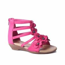 Glory Feet Girls Gladiator Sandals Fuchsia Pink Uk 7 Eur 24 CH03 84