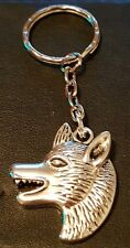 Wolf Keyring Handcrafted Tibetan silver free UK delivery