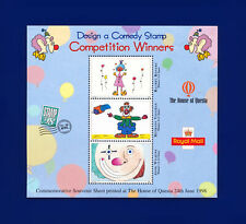 1998 Design a Comedy Stamp Competion Winners Souvenir Sheet by Questa cuav