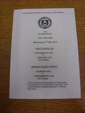 14/05/2014 Portsmouth écoles U13 Vera Stokes Cup Final: Portsmouth V Gosport &