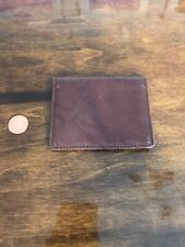 Geoffrey Beene Brown Leather Bi-fold Card Holder