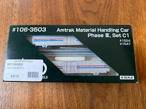 Kato 106-3503 Amtrak Material Handling Car Phase III, Set C1