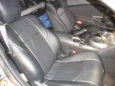 Clazzio Leather Custom Black Seat Covers for Nissan 370Z 2009-2012
