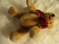 "Merrythought teddy bear golden mohair, 6"" made in England"