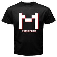 New Markiplier Funny Logo Famous Vlogger Men's Black T-shirt Size S-3XL