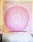 Indian Tapestry Wall Hanging Ombre Mandala Hippie Bohemian Bedspread Blanket
