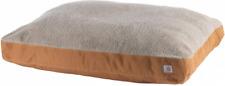 Dog Bed Premium Pet Pad Water Repellent Coating Carhartt Brown Sherpa Top New